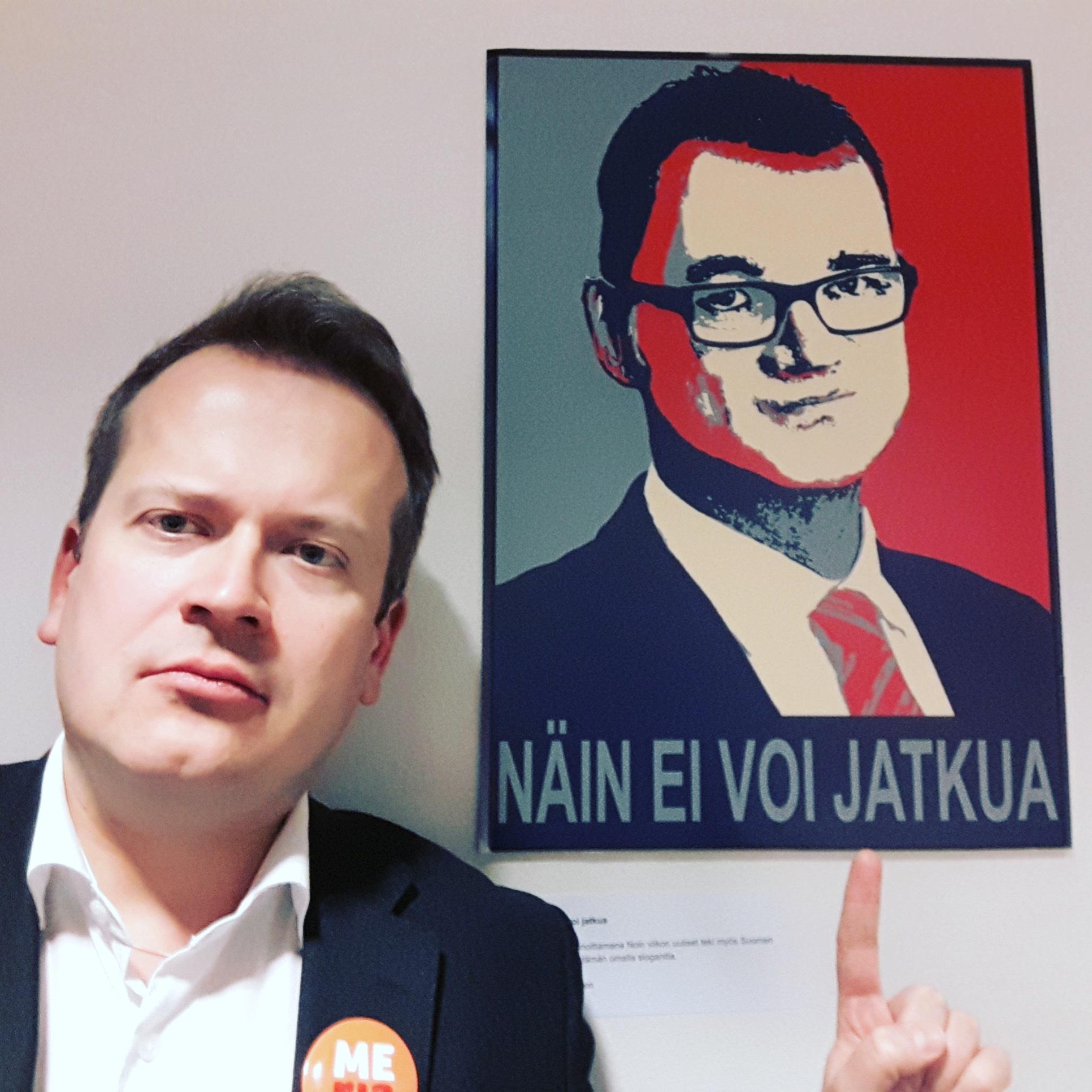 VASEMMISTON JA VIHREIDEN AIKA SANOA: ANTTI RINTEESTÄ PÄÄMINISTERI